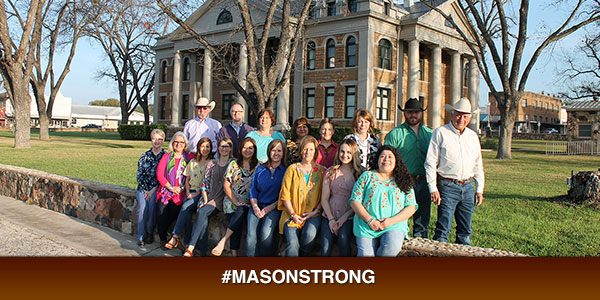 Mason Strong - group photo infront of Mason Court House